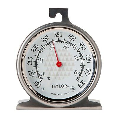 "Taylor Precision Oven Dial Thermometer New 2.5"" Dial Design Stainless Steel 3506"