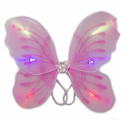 Light Up Pink Fairy Butterfly Wings ()