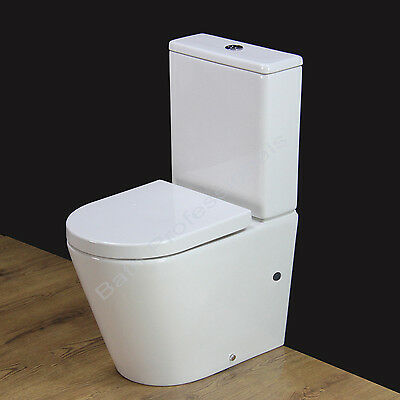 Toilet WC Close Coupled Cloakroom Short Projection Heavy Duty Seat Cover T4SS