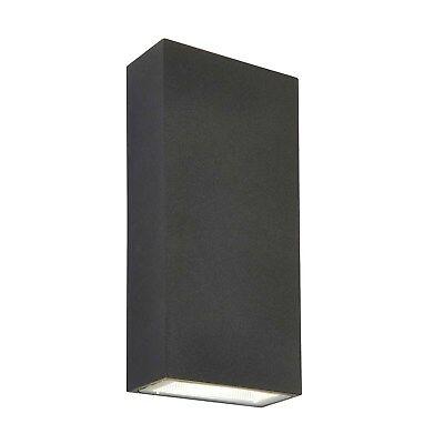 Saxby Morti Wall Light Dark Matt Anthracite IP44 2x5.5W LED -COB Cool White