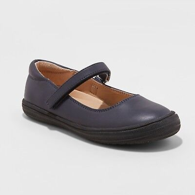 Girls' Omega Ballet Flats - Cat & Jack- Navy](Girls Navy Flats)