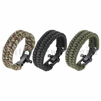 Stainless Steel Screw Anchor Shackles Braided Rope Military Bracelet for Men Boy](Bracelets For Boys)