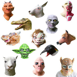 Overhead-Latex-Mask-Halloween-Fancy-Party-Animal-Rubber-Masks-over-40-DESIGNS