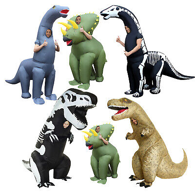 Inflatable Dinosaur T Rex Jurassic Dino Skeleton Halloween Adult Or Kids Costume