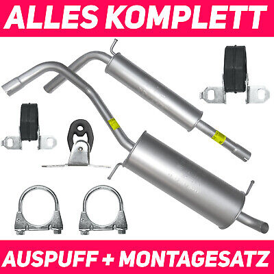 Seat Ibiza 6L1 1.4 16V Bj.02-06 Hosenrohr Auspuff Abgasrohr Montagesatz