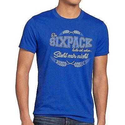 Sixpack hatte ich Herren T-Shirt steht mir nicht Funshirt Shirt Bier Fun Spruch (Six Pack Bier)