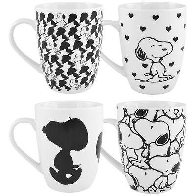 """Peanuts – 4er Set Tasse """"Snoopy"""" NEU/OVP"""