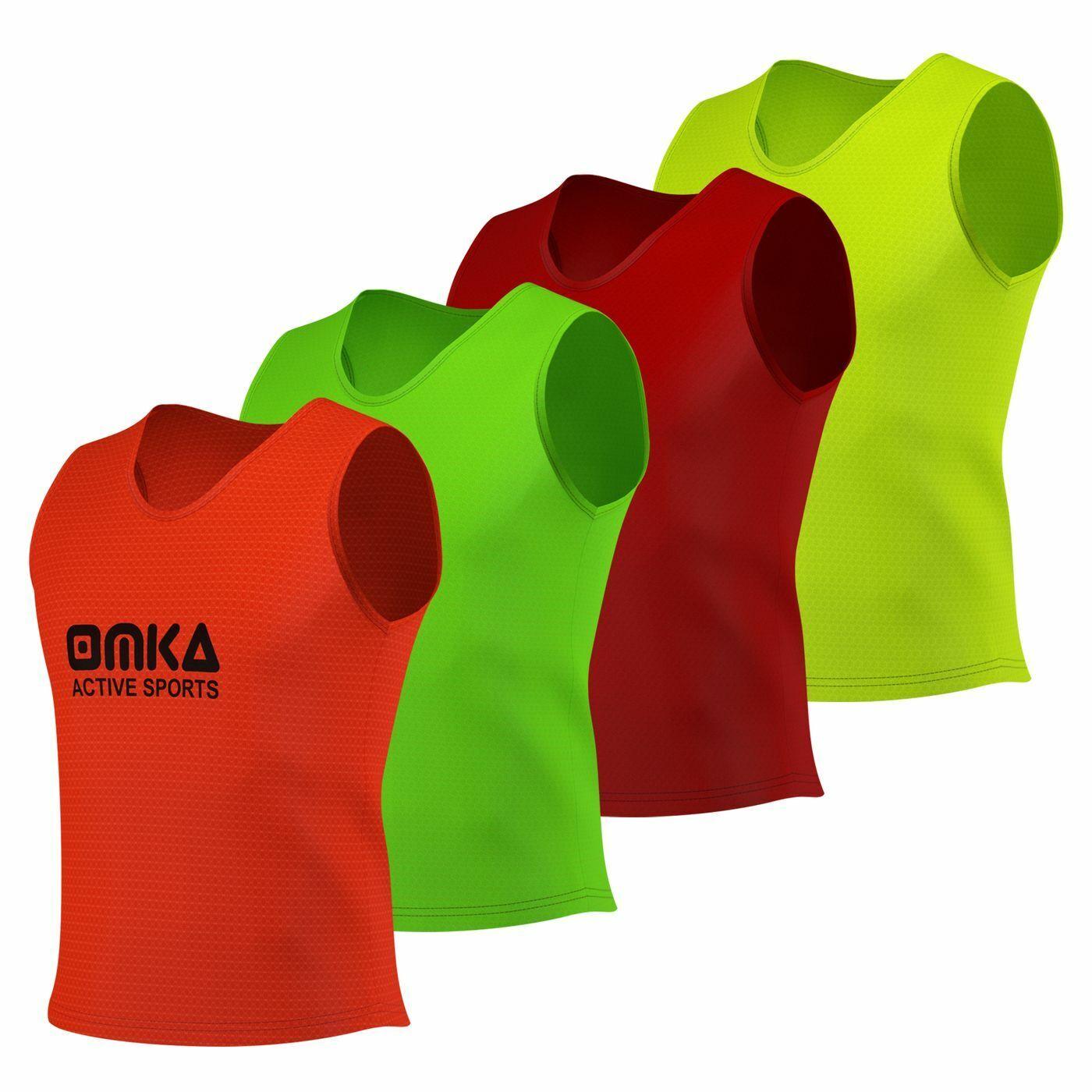 6x OMKA Teamsport Leibchen Trainingsleibchen Markierungshemd Kinder & Erwachsene