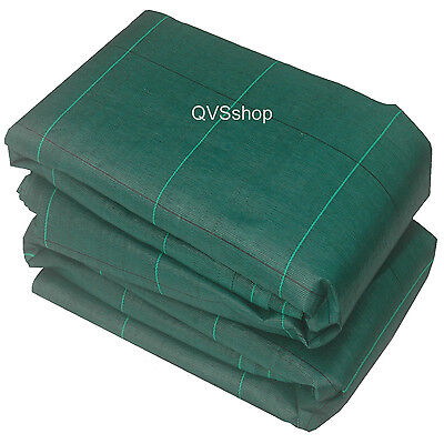 3m x 20m Green Weed Fabric Extra Heavy Duty 125gsm Folded Sheet Lawn Beds