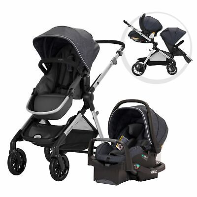 NEW Evenflo Pivot Xpand Modular Travel System with Safemax Infant Car Seat