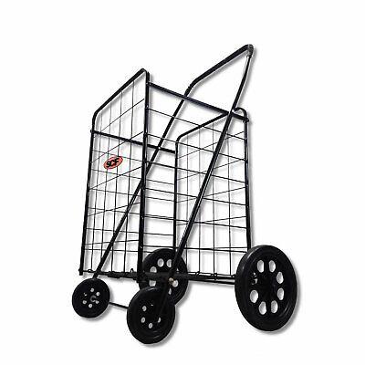Exclusive Extra Large Heavy Duty Folding Shopping Laundry Storage Cart Jumbo...