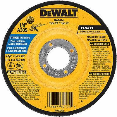 Dewalt Steel Grinding Wheel - DeWalt DW8414 4-1/2