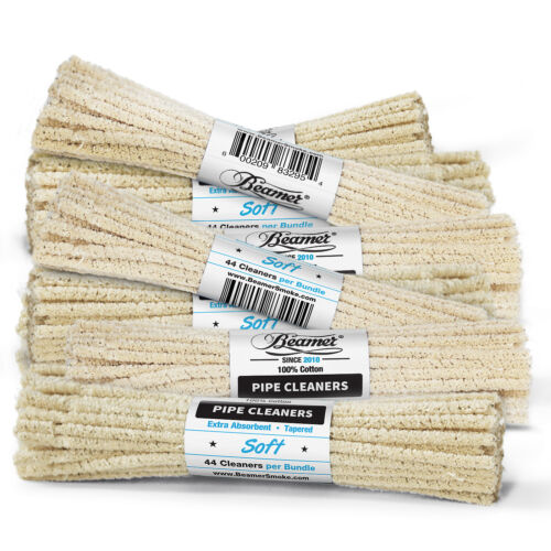 3 Bundles 132 ct Beamer Soft Unbleached Absorbent Pipe Cleaner for cleaning