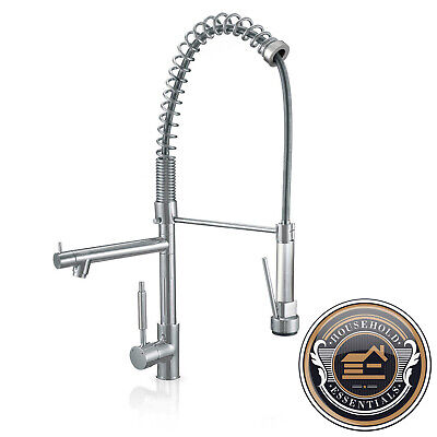 "27"" Chrome Tall Pull Down Kitchen and Bar Faucet - Single Hole / Handle"