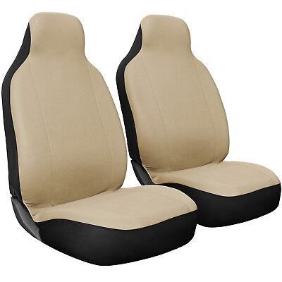Seat Cover Set Front Integrated Bucket for Car Truck SUV Flat Cloth - 2pc (Truck Bucket Seat Cover)