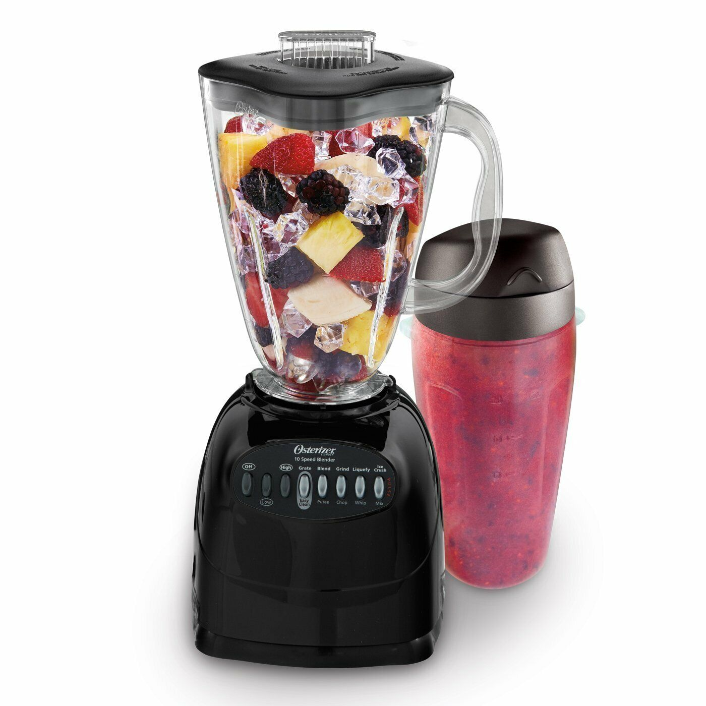 "Oster Simple Blend 100 10-Speed Blender with Blend and ""Go C"