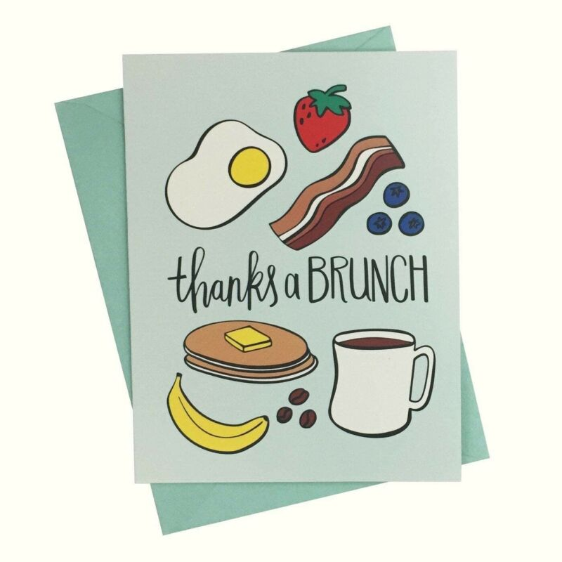 Paper Riot Co Thanks a Brunch Thank You Cards Pack of 10 NEW