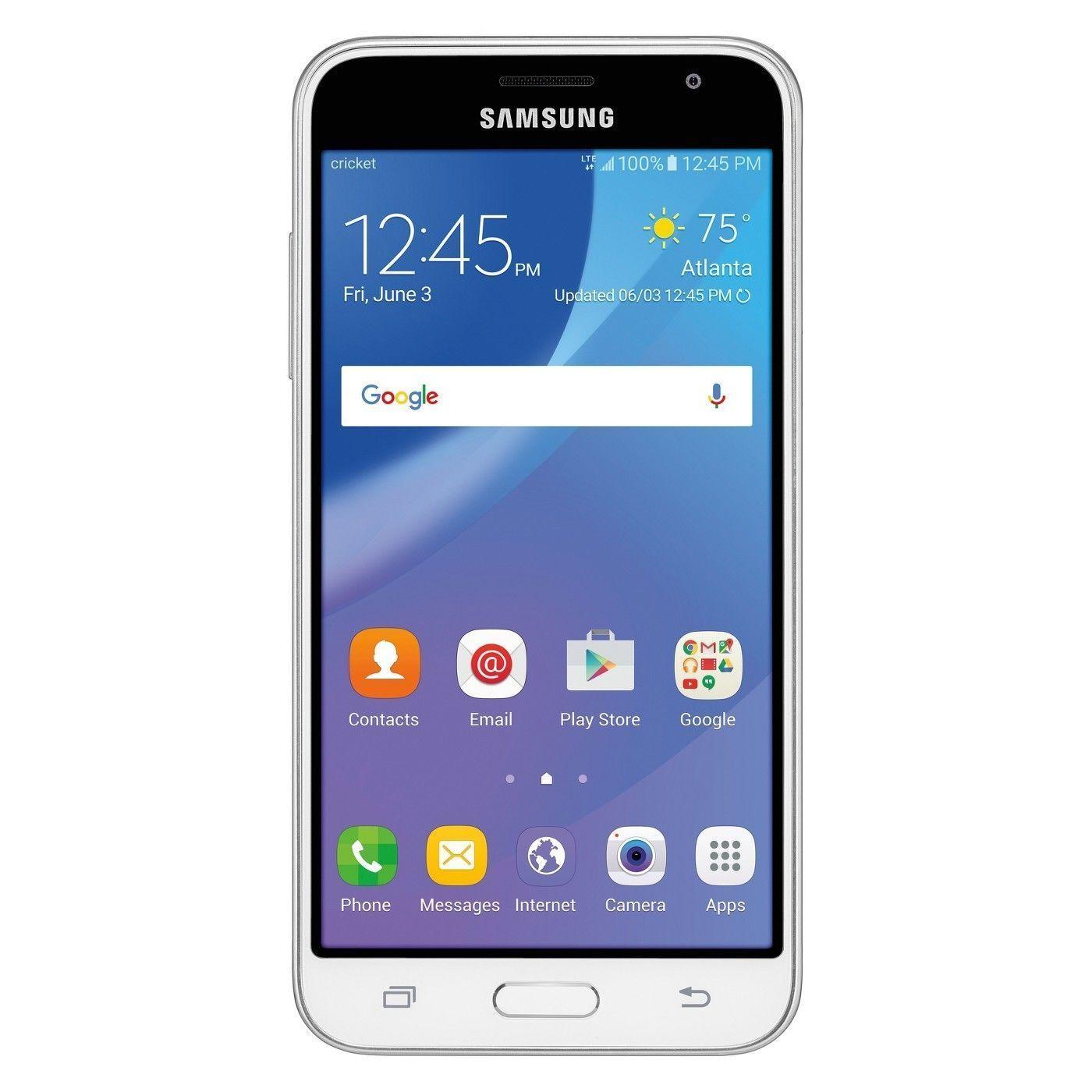 Samsung Galaxy Amp Prime SM-J320AZ - 16GB - White (Cricket) Smartphone