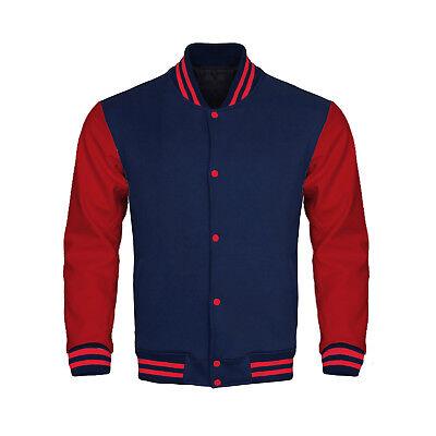 Supreme Varsity Letterman Baseball Collage Bomber Jacket Fleece & Faux Leather Collage Fleece