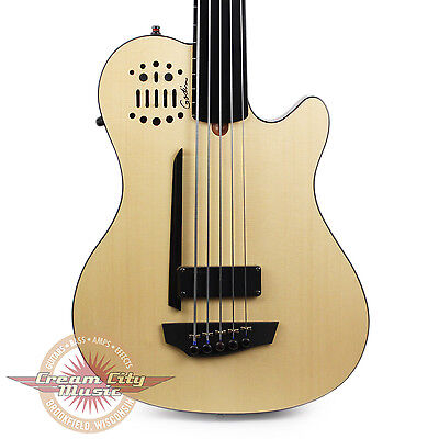 Brand New Godin A5 Ultra Fretless Acoustic Electric Bass Guitar Natural B Stock
