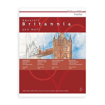 HAHNEMÜHLE Aquarellblock Britannia 12Blatt 24 x 32 Aquarellpapier Aquarellkarton