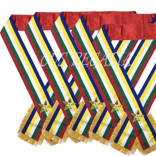 Masonic Order Eastern Star Sash, OES SASHES, MASONIC SASHES, 5 Pieces Set