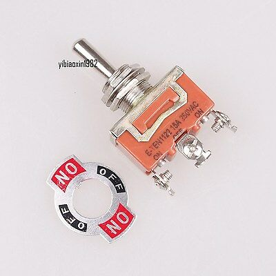 2pcs New Latching Spdt 3 Positions Onoffon 3-terminals Toggle Switch Ac250v