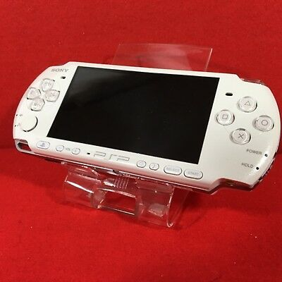 """Used PSP """"Playstation Portable"""" Pearl White (PSP-3000PW) F/S Japan"""