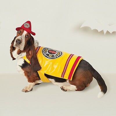 New ! Dog Costume Fire Fighter Dog Costume - Yellow  XS  S M L XL