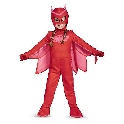 Toddler Girls' PJ Masks Owlette Deluxe Halloween Costume Small 2T - New With Tag