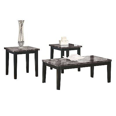 Ashley Furniture Occasional Table Set  3 Cn  Maysville Black T204 13 Table New