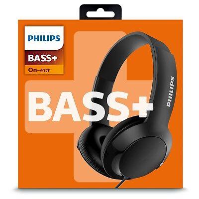 Philips SHL3070BK BASS+ Flat Folding DJ Style Headphones - Brand NEW Sealed