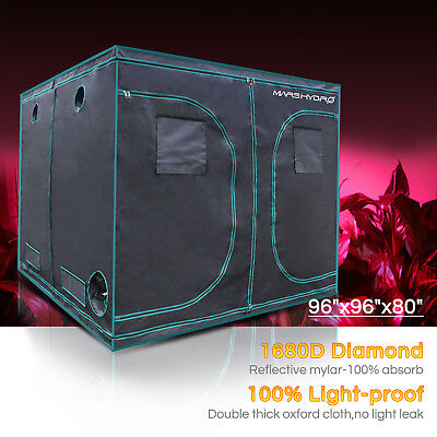 Mars Hydro 8'x8'x7'Grow Tent Kits Room 100%Reflective 1680D OxfordCloth Home Box