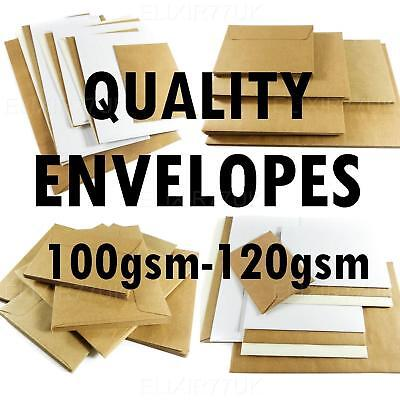 C5 A5 C6 A6 C7 DL PLAIN WHITE BROWN KRAFT IVORY ENVELOPE SMALL LARGE CRAFT PAPER
