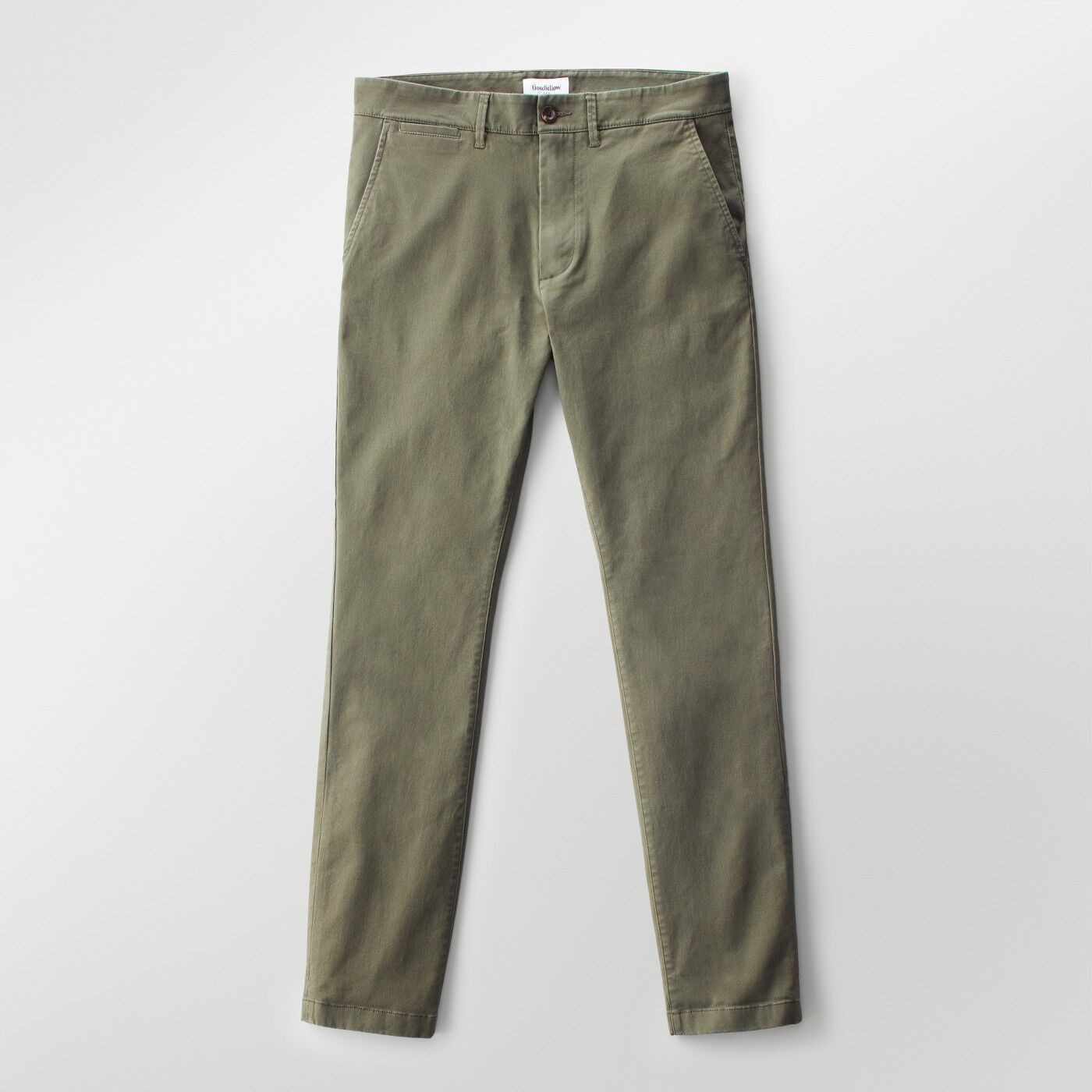 8dcd7b477fb7 Look effortless and cool with Hennepin Chino Pants from Goodfellow & Co™.  Made from comfortable stretch cotton twill and then washed for softness, ...
