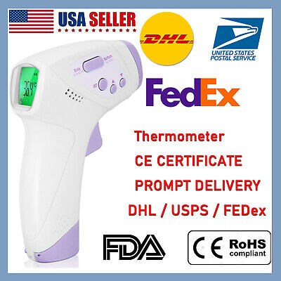 2020 Infrared Forehead Thermometer Digital LCD Non-Contact Temperature Gun US