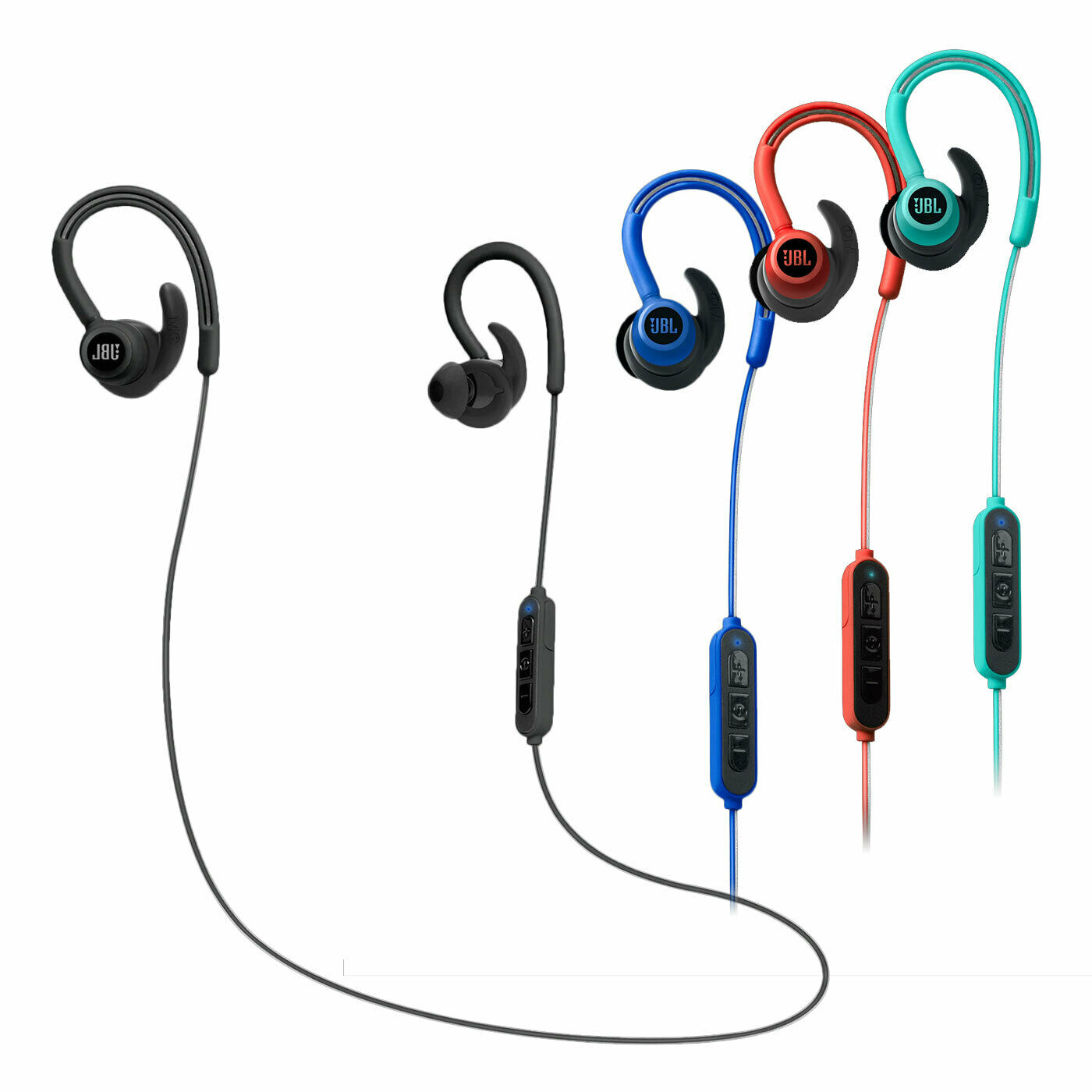 JBL Reflect Contour In-Ear Sportkopfhörer Bluetooth Schweißbeständig Dual-Lock