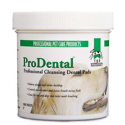 Dog Dental Wipes Cleaner 100 Count Dental Care Wipes Ideal for Dogs and Cats ()