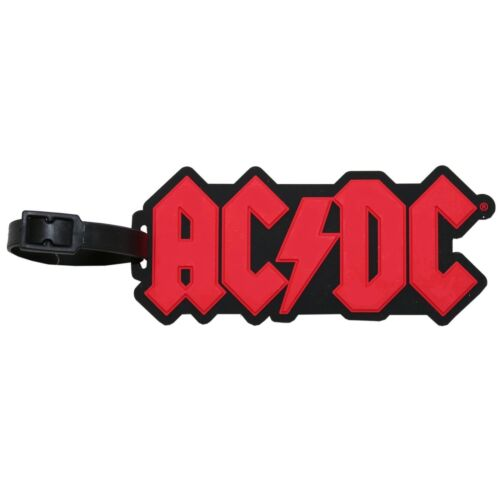 AC/DC Logo Luggage / Bag Tag - Deluxe 3D ACDC - AC DC Rock & Roll Collectible