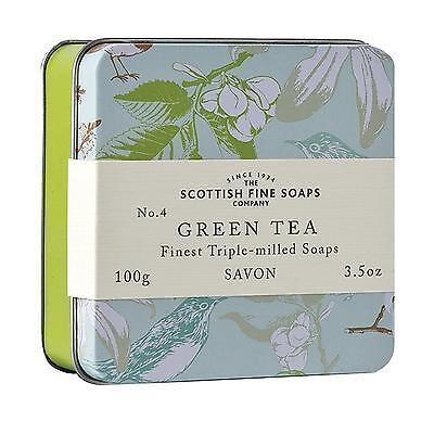 Scottish Fine Soaps Luxury Soap Green Tea Soap In A Tin 100G 3 5Oz