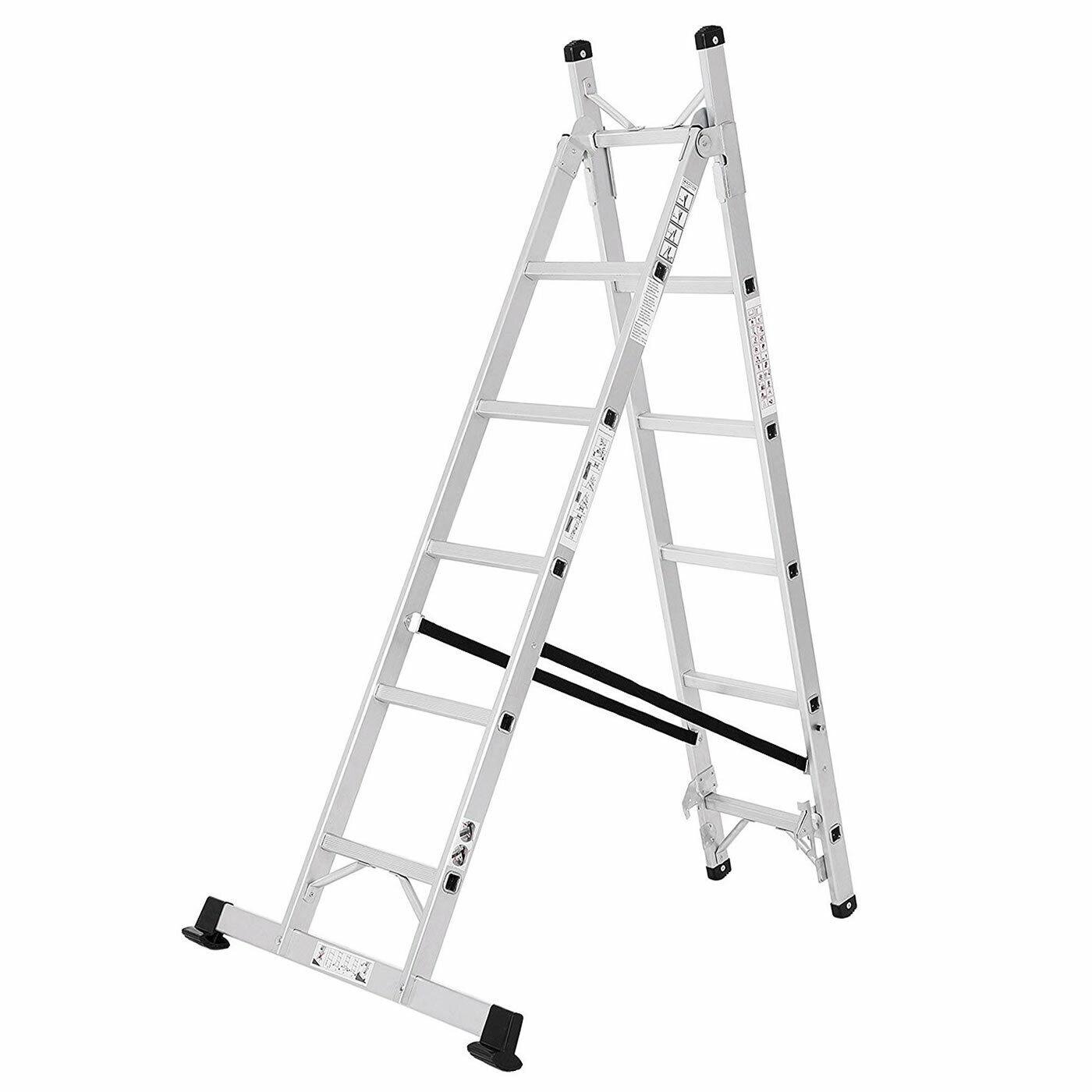 Alu Leiter Treppenleiter Universalleiter 3-WHaushaltsleiter Reichhöhe 3,5m