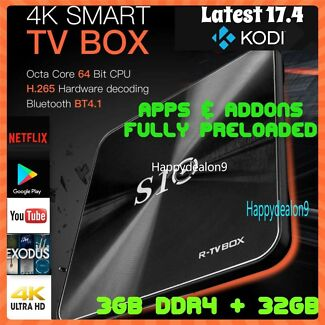 R-TV BOX S10 KODI 17.4 DDR4 3GB eMMC 32GB Android 7.1.2 4K TV Box