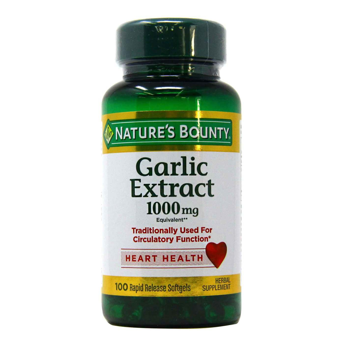 Nature s Bounty Garlic 100 Softgels, 1000 Mg EXP 7/23 - $8.75