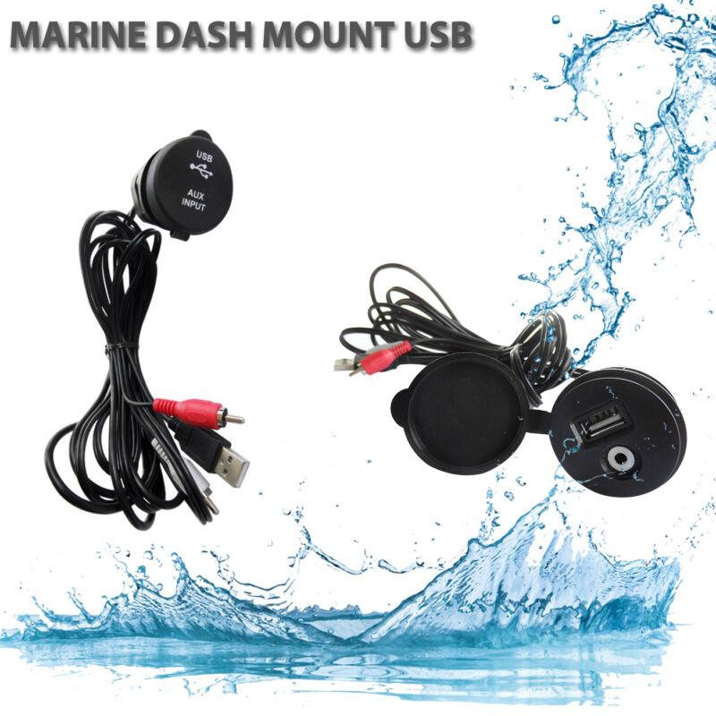 3.5MM Universal USB Auxiliary Interface Marine Boat  AUX RCA for ATV UTV RV Car