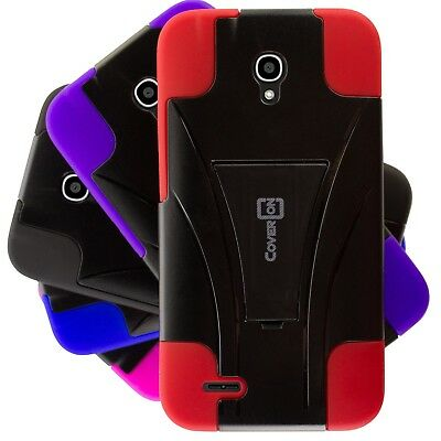 - For ALCATEL One Touch Go Play / Conquest Case - Hybrid Impact Tough Skin Cover