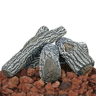 Uniflame Lava Rock and Log Kit for Propane Fire Pits - Heat Resistant & Durable ()