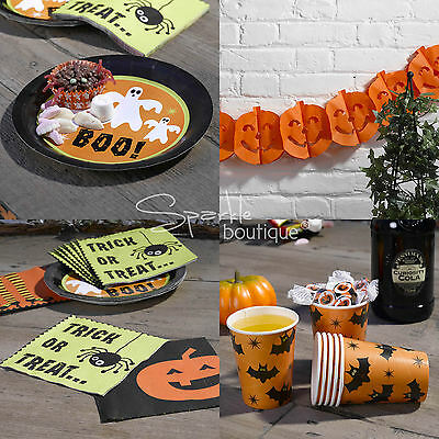 - Plates, Napkins, Cups & Garland/Bunting-FULL RANGE IN SHOP (Halloween-party-set)