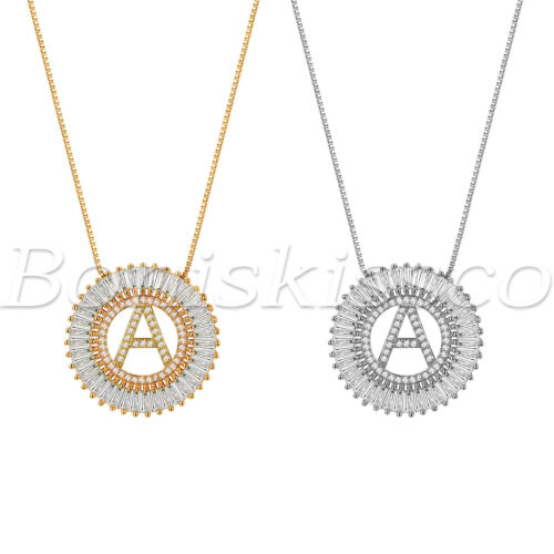 Jewellery - A-Z Alphabet Initial Letter Necklace Rhinestone CZ Pendant Gift For Women Girls