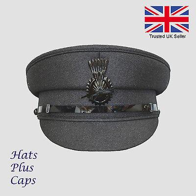 Mens Quality Dark Grey Formal Chauffeur Hat Professional chauffer Drivers Cap