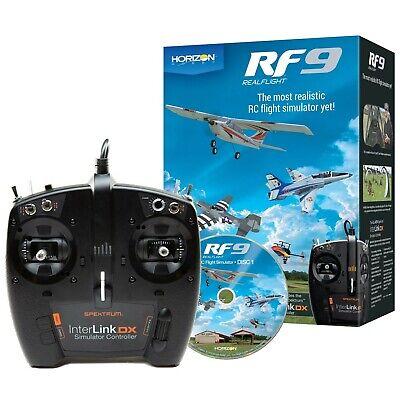 RealFlight 9 Air Heli Drone Flight Simulator w/Spektrum InterLink DX Controller